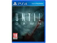 until dawn , ps4 , as new ! price stands , no offers !
