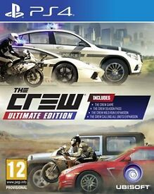 THE CREW: ULTIMATE EDITION FOR THE PLAYSTATION 4 - COMPLETE WITH UNUSED SEASON PASS