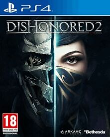 dishonoured 2 , ps4 , as new ! price stands , no offers ! willing to post !