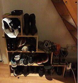 Shoe Storage Unit - Beech Effect