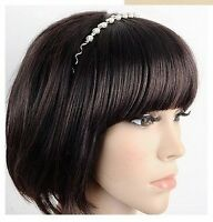 New women's pearls, wave headband hair band black