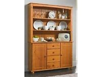 Tall dresser Made from solid pine, traditional antique stain in rich warm tones and solid pine feet