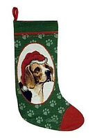 Basset, Beagle, Boxer, Chihuahua Tapestry Christmas Stocking