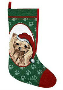 Yorkie Tapestry Christmas Stocking, by Linda Pickens,Yorkshire T