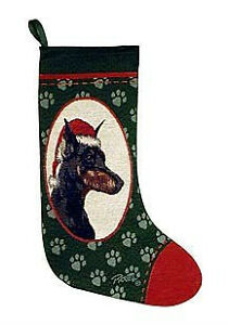 Corgi, Doberman, Husky, Jack Russell Tapestry Christmas Stocking