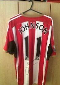 Signed Adam Johnson Sunderland shirt