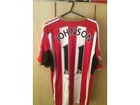 Signed Adam Johnson Sunderland shirt