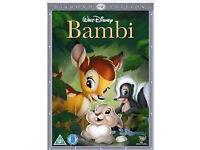 Disney classic dvds (Lion king,Frozen,Bedknobs, Bambi etc),