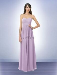 Bill levkoff bridesmaid dress style 778 size 4 violet