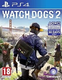 watchdogs 2 , ps4 , as new ! price stands , no offers ! swap horizon zero dawn