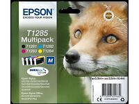 Epson T1285 Original Black & Colour Ink Cartridge 4 Pack. UNDER HALF PRICE.