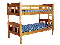 **Wooden Bunkbeds** Mattress not included