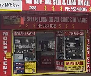 $$$ Captain Cash Loans Money Lent & Pawnkbroker Riverwood $$$ Riverwood Canterbury Area Preview