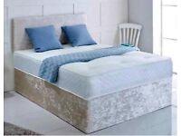 Crushed velvet beds ❤️❤️free delivery 🚚