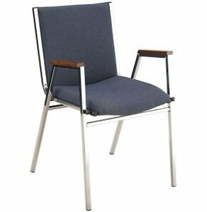 """Wood Arm Stacking Chair, 20-3/4""""W x 20-3/8""""D x 35-5/8"""