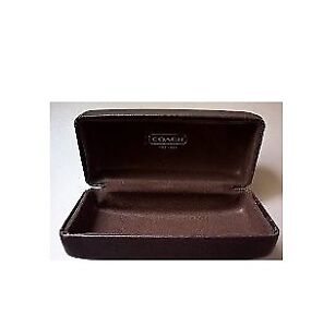 Coach Authentic Vintage Hard Brown Leather Sunglass Case