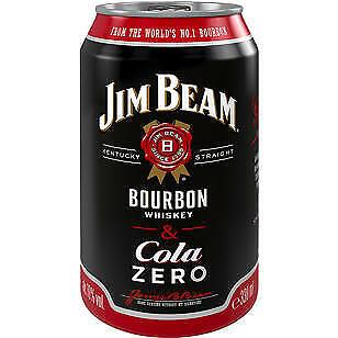 12 Dosen Jim Beam White & Cola Zero inc. EINWEG Pfand a 0,33 L 10%Vol.