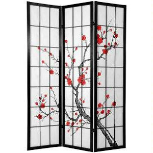 4panels 6Ft tall Cherry  Blossom Japanese screen ( room divider)