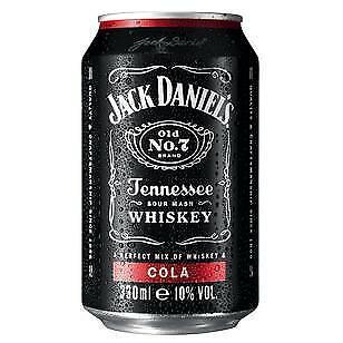 12 Dosen Jack Daniel's & Cola a 0,33L 10% Vol. inc. EINWEG Pfand Whiskey Cola