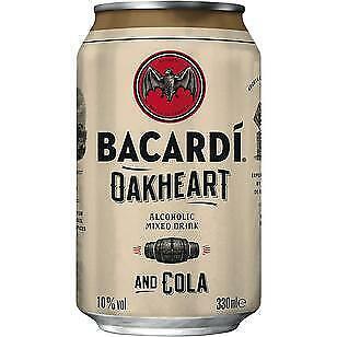12 Dosen Bacardi Oakheart & Cola a 0,33 L 10% Vol. inc. EINWEG Pfand