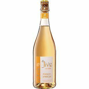 6 Flaschen Jive Sekt & Pfirsich-Aprikose a 0,75L Party Aprikose Pfirsich 5,9 %