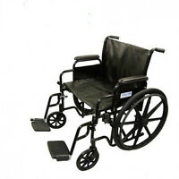 "NEW IN BOX X large manual folding Wheelchair-Seat Size 20"",22,24"