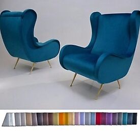 Pair Marco Zanuso armchairs in the style, newly made in 25 colours, Italian