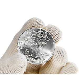 Silver coins: 10 x 1 oz American Eagle .999 pure (Mint state)