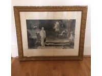 """ANTIQUE FRAMED PRINT OF """" A PASSING CLOUD"""""""
