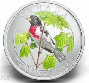 Canada 2012 25Cents Rose-Breasted Grosbeak