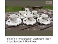 Vintage Royal Doulton trios