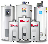 WATER HEATERS / TANKLESS WATER HEATERS / FREE INSTALL