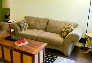 FURTHER REDUCED! Comfy sofa- Extended, Have Until end of month