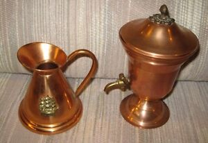 Copper Ornamental Jug & Jug with Spigot London Ontario image 1