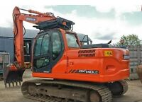 """HIRE"" Mini Diggers, 14 Ton Diggers, Dumpers all with drivers also skilled labours Keen rates"