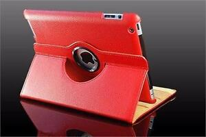 360 Ipad 2/3/4 Magnetic Leather Case- RED