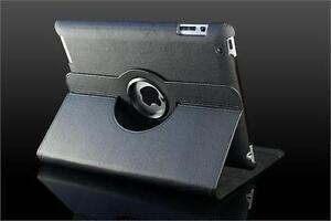 360 Ipad 2/3/4 Magnetic Leather Case- Black