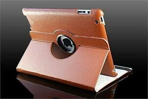 360 Ipad 2/3/4 Magnetic Leather Case- Brown