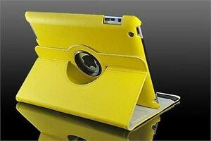 360 Ipad 2/3/4 Magnetic Leather Case- Yellow