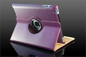 360 Ipad 2/3/4 Magnetic Leather Case- Purple