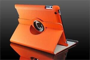 360 Ipad 2/3/4 Magnetic Leather Case- Orange