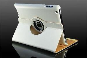360 Ipad 2/3/4 Magnetic Leather Case- White