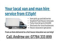 Your local man and van service from £15ph (House removals, Deliveries, Furniture clearances)