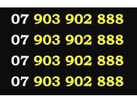 Gold VIP 07 903 902 888 Easy EE 888 Mobile Phone Number Sim Card £5 Free Credit