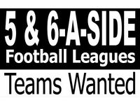 *** 5 A SIDE TEAMS WANTED IN ORMSKIRK ***