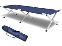 Folding Camping Bed Navy Blue