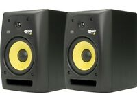 used Rokit KRK 8 G2 pair (one works perfectly, the other needs repair)