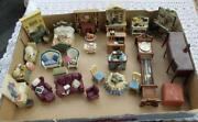 Vintage Dolls House Furniture Lot
