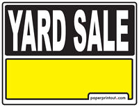 Large Yard Sale 46 Westcomb Cres Saturday, May 30th 8am-1