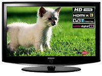 "Samsung 37"" lcd hd no remote"
